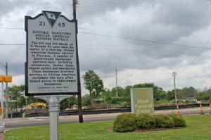 Marker recognizes African American Business District