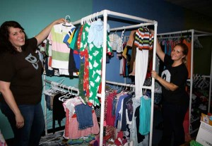 Moms establish closet for foster children
