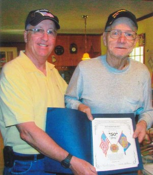 Legionnaire Ken Magnus recognized for 50 years service