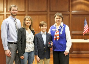 Youth wins local, state DAR contest