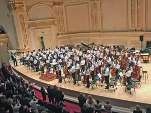 String students perform at Carnegie Hall