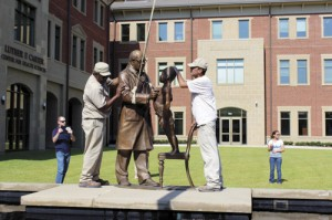 Dr. R. N. Beck statue installed in public plaza