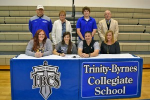 Trinity-Byrnes  athlete signs letter  to play for FDTC