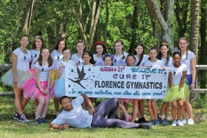 Florence Gymnastics participate in Relay For Life