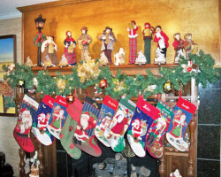 Stockings-on-mantle