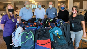 DARLINGTON KIWANIANS DONATE BACKPACKS
