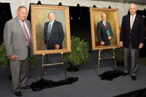 Portraits unveiled: Pair honored for leadership and dedication to service