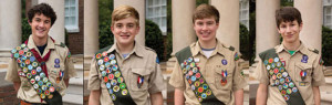EAGLE SCOUTS: Four awarded scouting's highest honor during ceremony on Nov. 22