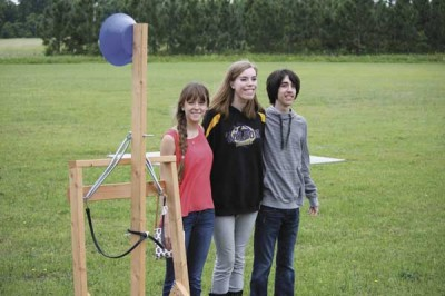Trinity Byrnes students build catapults
