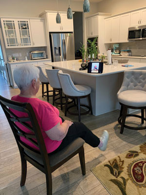 Senior living community offering free virtual events