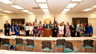 House Speaker Jay Lucas and Chairwoman Rita Allison of the Education and Public Works Committee hosted the Education Reform Student Advisory Council