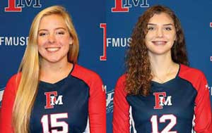 FMU volleyballers fall in four sets