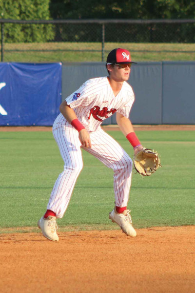 Florence RedWolves shortstop Justin Horn is on his toes as he prepares to field a ground ball.