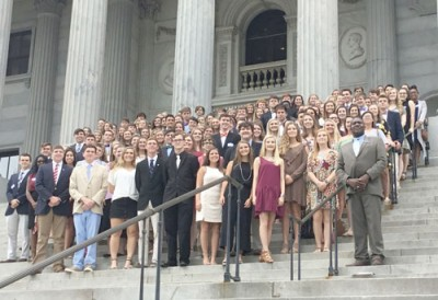 Florence Christian School and The King's  Academy attend conference the State House