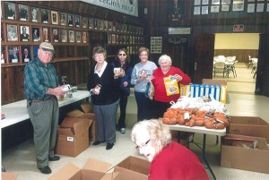 American Legion, auxiliary pack food baskets