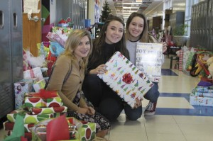 Trinity-Byrnes honor society members hosted an Angel Tree project for the holidays