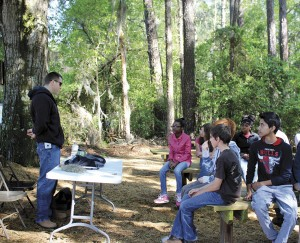 Students visit Clemson Outdoor Education Trail