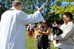 St. Anthony School hosts Blessing of the Animals