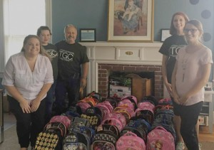 Church donates backpacks