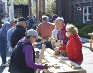 Central UMC members build beds for youth