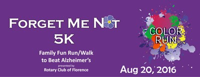 Color Run/Walk to benefit Alzheimers Association