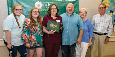 Pate recognized  with DAISY Award
