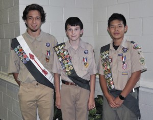 Three youth earn Eagle Scout Awards