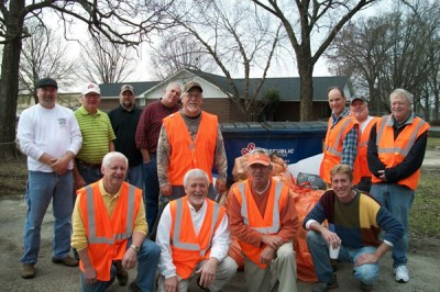 Elk members clean adopted roads