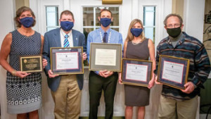 Professors honored for service, dedication