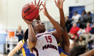 Woods scores 18, rebounds 18 in loss to Lander