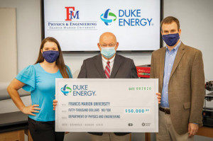 Duke Energy provides grant for FMU Engineering Dept.