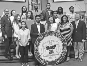 """NAACP recognized students taking the """"Highway to Higher Education"""""""