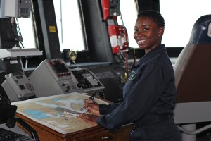 Florence Sailor serves aboard guided-missile destroyer in Pearl Harbor