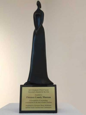 FLORENCE COUNTY MUSEUM RECEIVES SOUTH CAROLINA ELIZABETH O'NEILL VERNER AWARD