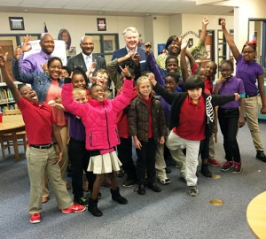 State Treasurer Curtis Loftis, Rep. Robert Williams  discuss financial literacy with Brockington students