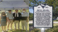 The Beth Israel Congregation held a ceremony Sunday, Sept. 12 to celebrate the location of a historical marker at the synagogue. Speaking at the ceremony were Rabbi Leah Doberne-Schor, Larry Falck, Barnett Greenberg and Dr. Alex Cohen.