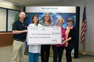 McLeod for Health proceeds donated to Susan G. Komen South Carolina