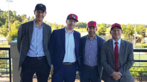 Left to right: SRO Partners owner Brandon Raphael, Cameron Kovach, Managing Partner Steve DeLay, and Minority Owner Kevin Barth.