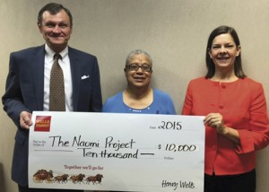 Naomi Project receives $10,000 grant