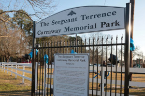 Darlington opens  park named in  Carraway's honor