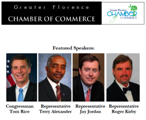 Several Pee Dee Lawmakers to Headline FlorenceChamber's 2016 Spring Legislative Breakfast