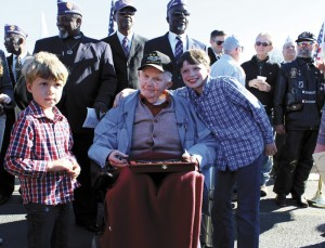 Ninety-four year old veteran finally receives WWII medals