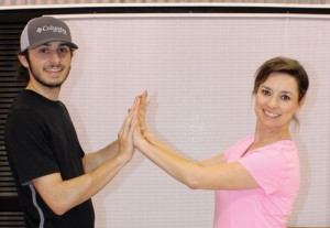 Dance couple rehearsing salsa routine for DFOFS