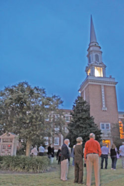 First Baptist Church steeple completed