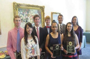 ROTARIANS HONOR HIGH SCHOOL SENIORS