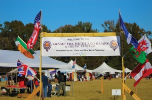 ENTRANCE TO THE FIRST ANNUAL SWAMP FOX HIGHLAND GAMES