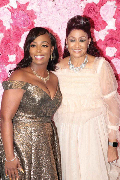Cornishia Thompson, left, is joined by Dr. Dorinda Clark-Cole at her recent launch event held at the Florence Center.
