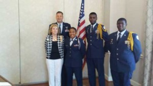 West Florence High School JROTC presents colors at NSDAR meeting