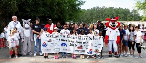 McLaurin students reach walking goal